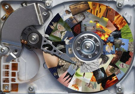harddisc: all your photos on the hard disc - storage Stock Photo