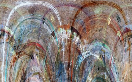 convulsion: Abstract image of a pulsating spring - background