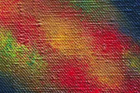 dope: Extreme close-up of the painted canvas - craftsmanship