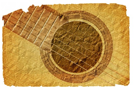 background with acoustic guitar in grunge style