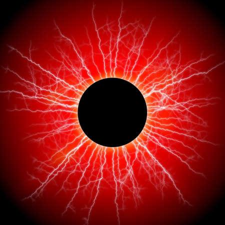 resplendence: black star and red corona