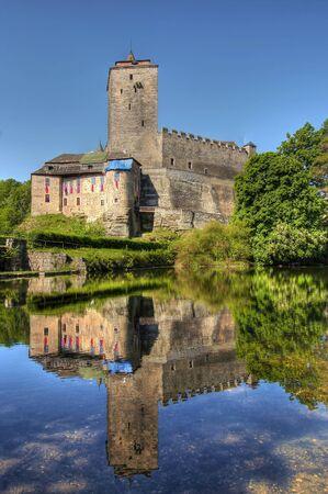 crenelation: Kost Castle - large Gothic castle, Czech Republic