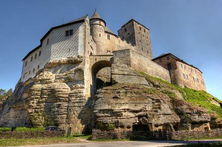 gothic castle: El castillo de Kost - gran castillo de estilo g�tico, la Rep�blica Checa