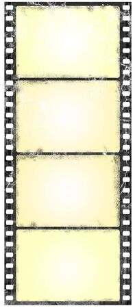 Old widescreen filmstrip in grunge style Stock Photo - 5264373