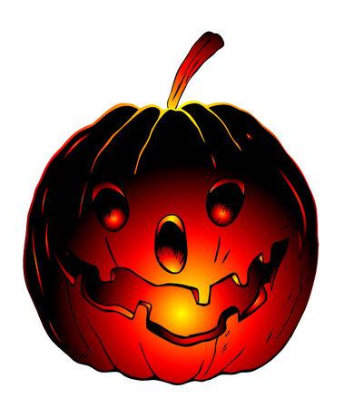 obscure: Halloween calabaza - vector