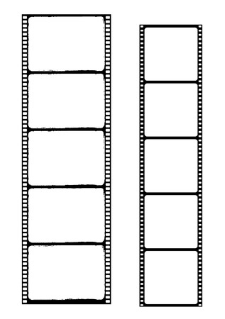 csíkok: film strip - vector