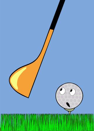 awaiting: pelota de golf asustado a la espera de un accidente cerebrovascular