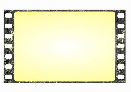 grunge film frame - wide Stock Vector - 5601223