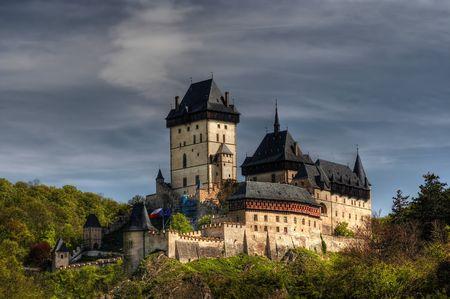 crenelation: Karlstejn Castle - large Gothic castle founded 1348