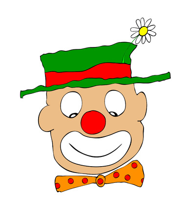 buffoon: happy clown Illustration