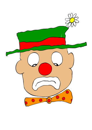 clowning: sad clown - unhappy face
