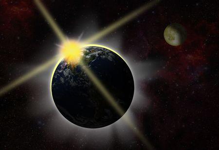 aureola: break of day - eclipse - first light
