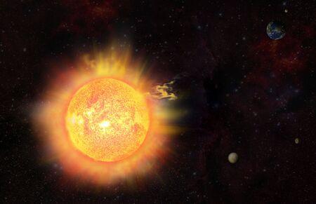 eruption - solar flare - solar storm photo