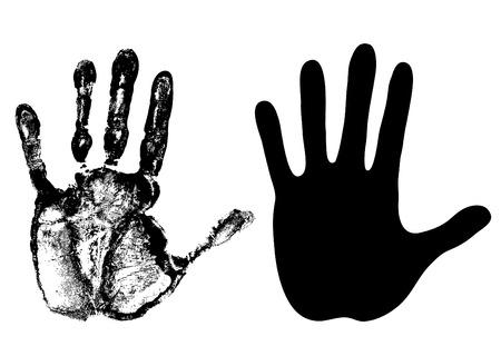hand - open palm - vector 向量圖像