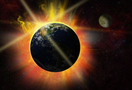 break of day - eclipse - solar flare photo