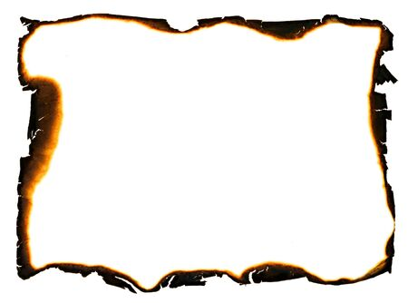 ragged: grunge frame with charred and ragged edges Stock Photo