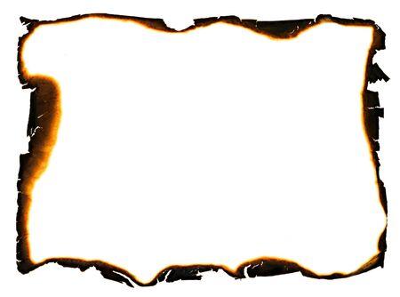 grunge frame with charred and ragged edges 版權商用圖片