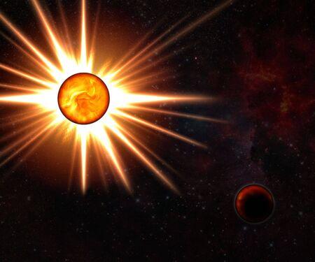 convulsion: Nova estrella y estrella muerta  Foto de archivo