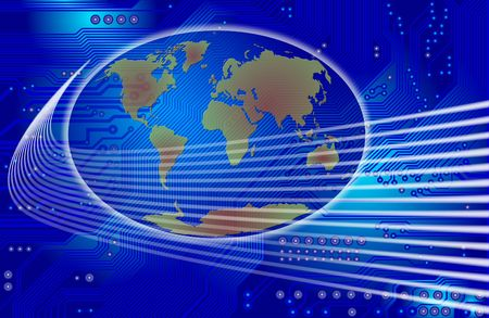 technology abstract - global communication photo