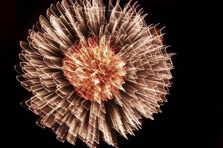 convulsión: explosi�n - fuegos artificiales  Foto de archivo