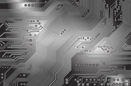 printed circuit - motherboard Stock Vector - 6088419