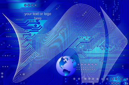 global communication - network - vector Stock Vector - 6111042