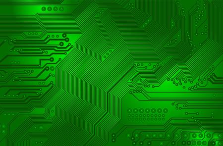 vector de circuito impreso - placa base-  Vectores