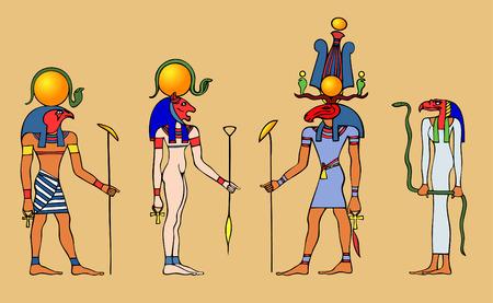 Various Egyptian gods Vector