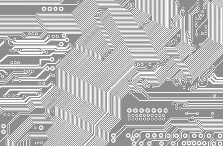 printed circuit - motherboard 向量圖像