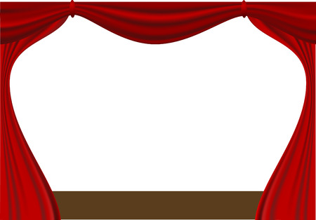goffer: open curtain Illustration