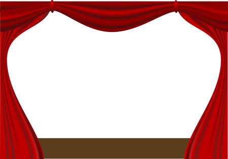 open curtain Illustration
