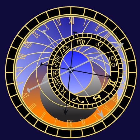 astronomical clock - vector Vector