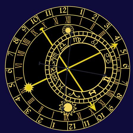 Horloge astronomique  Banque d'images - 6368857