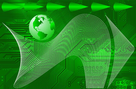 connectivity: international internet connectivity - vector