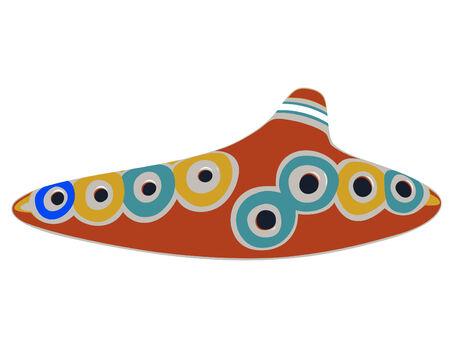 musical instrument - ocarina - isolated 向量圖像