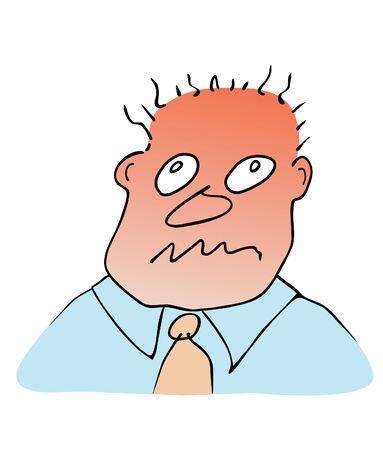 rostro de hombre - reacción de estrés
