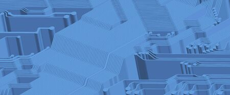 manipulated: printed circuit - motherboard - technology abstract - 3D