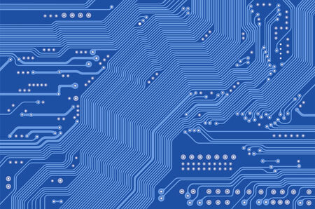 printed circuit - motherboard - vector Vector