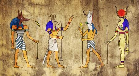 Gyptische Götter und Göttin  Standard-Bild - 6984445