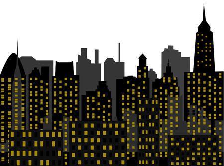 contemporaneous: skyscrapers Illustration