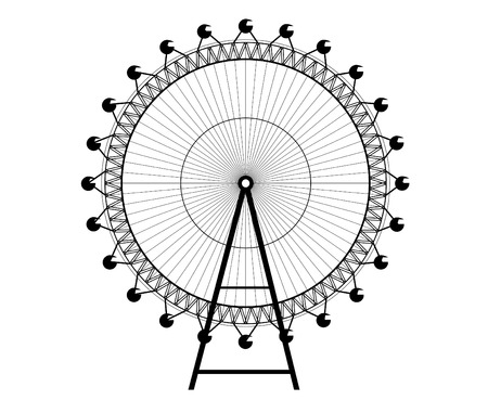 ferris wheel - Big Wheel   Illustration