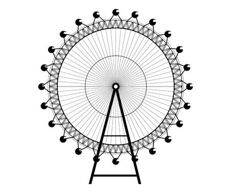 ferris wheel - Big Wheel 版權商用圖片 - 7076143