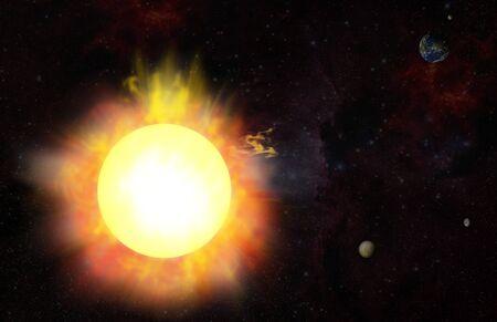 eruption - solar flare photo