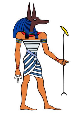 고대 이집트의 신 - 아누비스 - 예네푸 일러스트