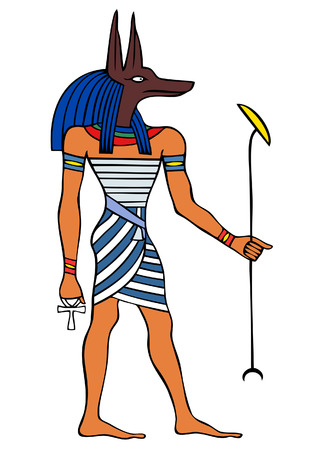 Dios del antiguo Egipto - Anubis - Yinepu  Vectores