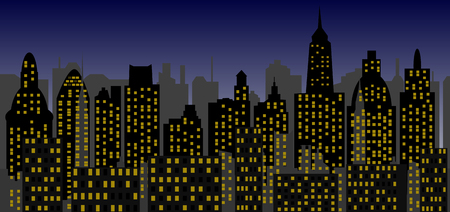 contemporaneous: grattacieli di notte
