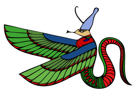 demoniacal: mythical creature of ancient Egypt - vector