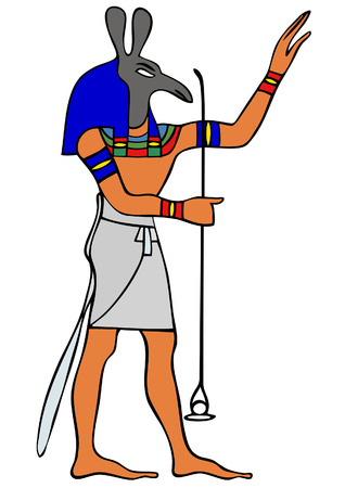 God of Ancient Egypt - Set - Seth - god of storms; later became god of evil; darkness; chaos and desert and patron of Upper Egypt. Stock Vector - 7234900