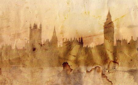 London skyline in artistic style 版權商用圖片