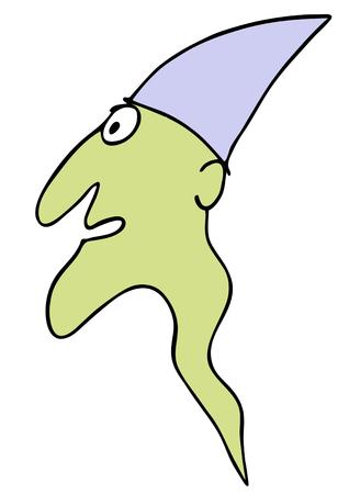 bugaboo: ghost - old geezer Illustration